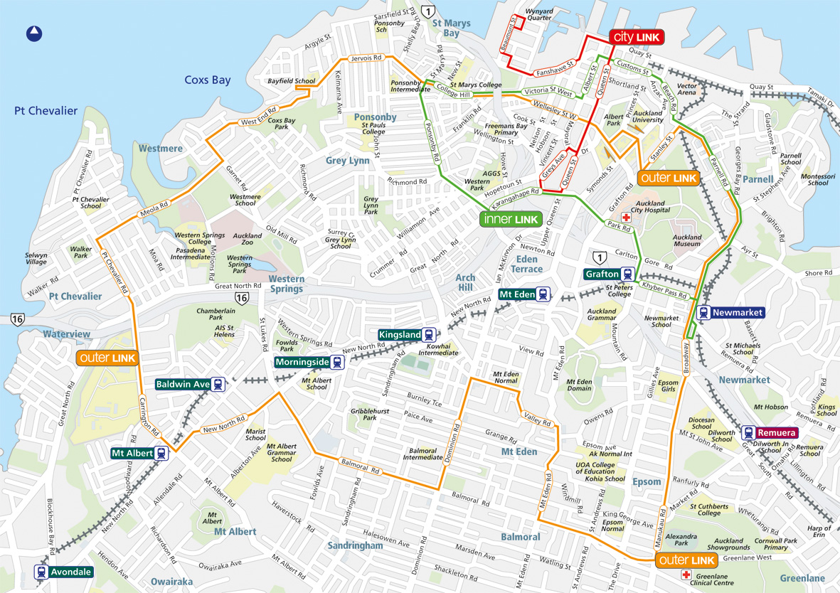 Link route in Auckland. Source: at.govt.nz